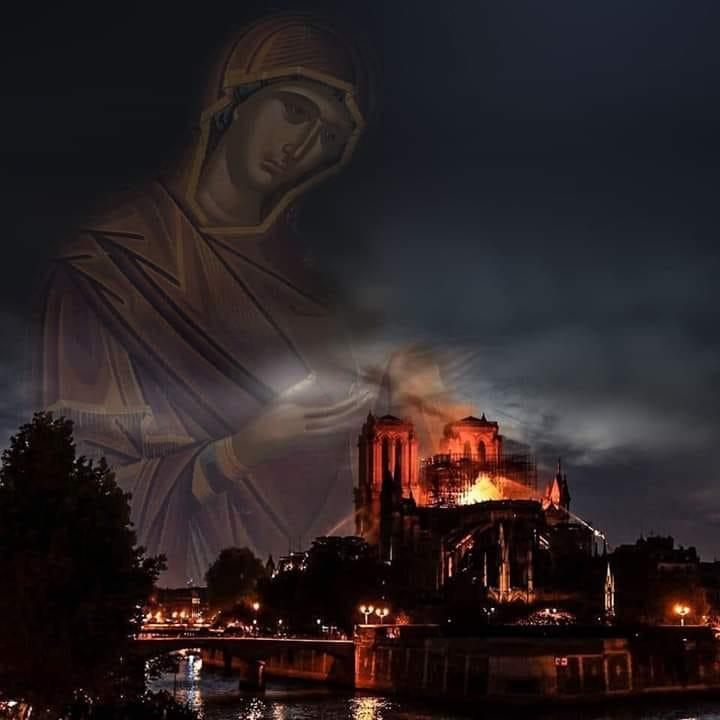 Notre Dame de Paris et Macron : un inquiétant signe du ciel.