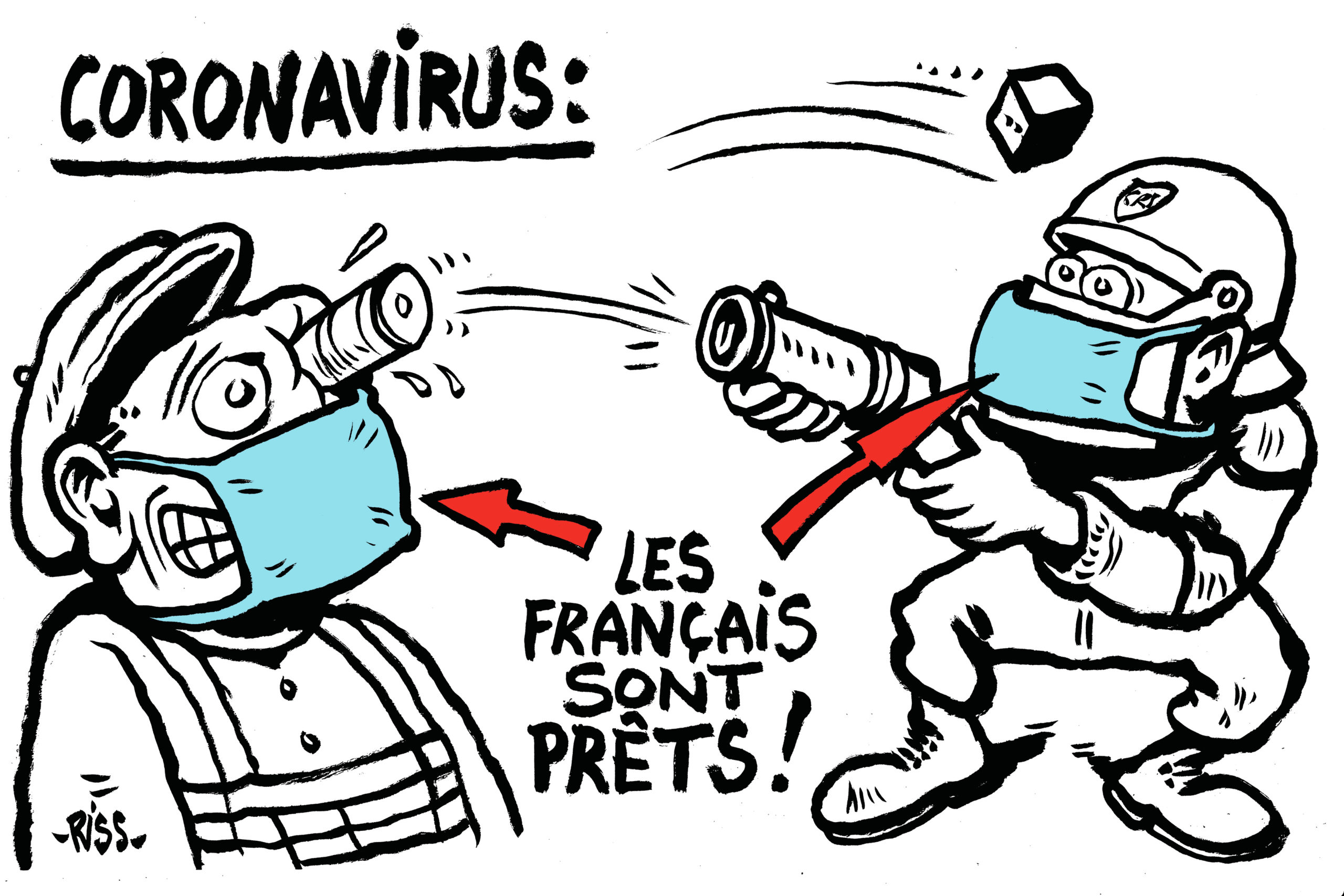 Macron et le corona virus.
