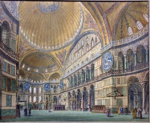 La basilique Sainte-Sophie et le Grand Monarque.