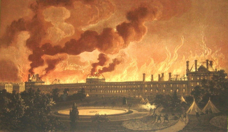 L'incendie du palais des Tuilleries.